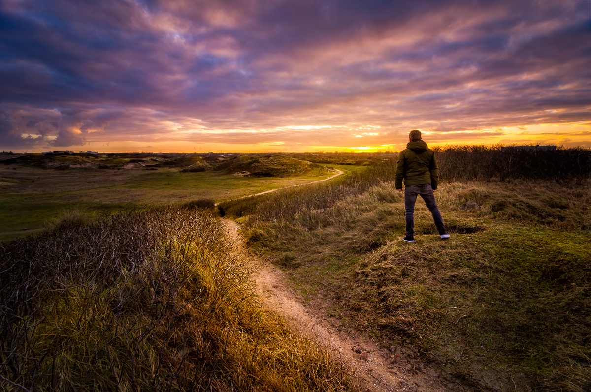 The Call of the Wild - Martijn van der Nat 1/13th seconds, f8, ISO 200, 11 mm, 0.6 Formatt Hitech hard grad ND and tripod A Sunrise selfie in the Dunes of Katwijk, The Netherlands A little piece of 'wild' land in one of the most densely populated area's of the country. This image and others is featured in my Blogpost: http://www.martijnvandernat.nl/the-dunes-of-katwijk/ #formatt #hitech #dunes #sunrise #katwijk